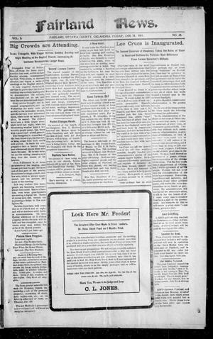 Primary view of object titled 'Fairland News. (Fairland, Okla.), Vol. 3, No. 43, Ed. 1 Friday, January 13, 1911'.