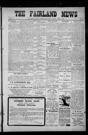 Primary view of object titled 'The Fairland News (Fairland, Okla.), Vol. 5, No. 12, Ed. 1 Friday, June 7, 1912'.