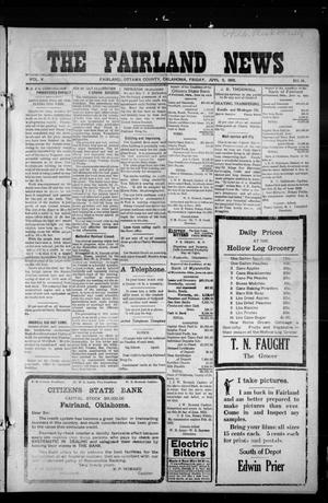 Primary view of object titled 'The Fairland News (Fairland, Okla.), Vol. 5, No. 16, Ed. 1 Friday, July 5, 1912'.