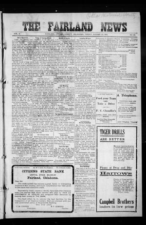 Primary view of object titled 'The Fairland News (Fairland, Okla.), Vol. 5, No. 23, Ed. 1 Friday, August 23, 1912'.