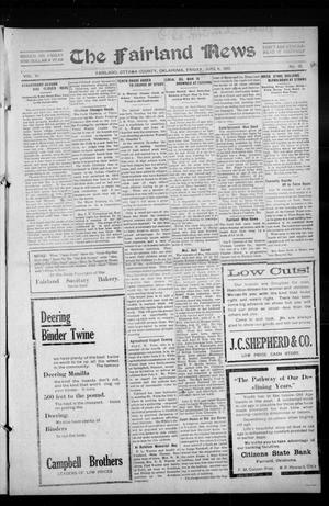 Primary view of object titled 'The Fairland News (Fairland, Okla.), Vol. 6, No. 12, Ed. 1 Friday, June 6, 1913'.