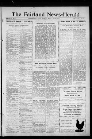Primary view of object titled 'The Fairland News--Herald. (Fairland, Okla.), Vol. 6, No. 31, Ed. 1 Friday, October 17, 1913'.