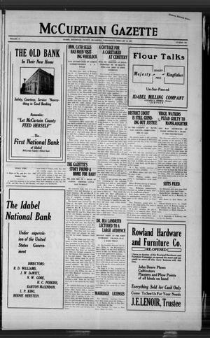Primary view of McCurtain Gazette (Idabel, Okla.), Vol. 14, No. 103, Ed. 1 Wednesday, February 16, 1921