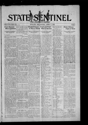 Primary view of object titled 'State Sentinel (Stigler, Okla.), Vol. 16, No. 2, Ed. 1 Thursday, April 7, 1921'.