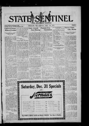 Primary view of object titled 'State Sentinel (Stigler, Okla.), Vol. 16, No. 37, Ed. 1 Thursday, December 29, 1921'.