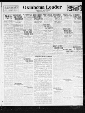 Primary view of object titled 'Oklahoma Leader (Oklahoma City, Okla.), Vol. 2, No. 185, Ed. 1 Saturday, March 18, 1922'.