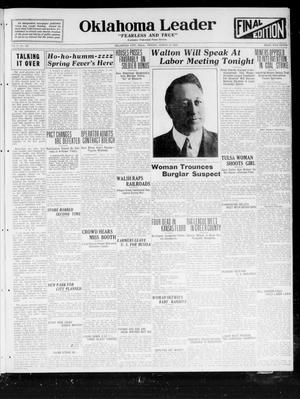 Primary view of object titled 'Oklahoma Leader (Oklahoma City, Okla.), Vol. 2, No. 190, Ed. 1 Friday, March 24, 1922'.