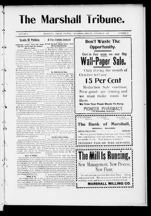 Primary view of object titled 'The Marshall Tribune. (Marshall, Okla.), Vol. 3, No. 26, Ed. 1 Friday, October 28, 1904'.