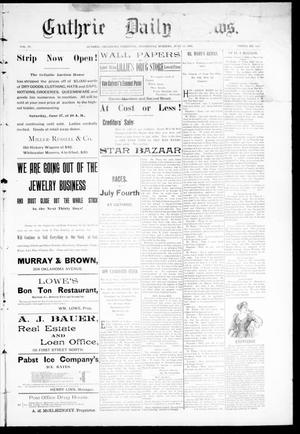 Primary view of Guthrie Daily News. (Guthrie, Okla. Terr.), Vol. 4, No. 1217, Ed. 1 Wednesday, June 28, 1893