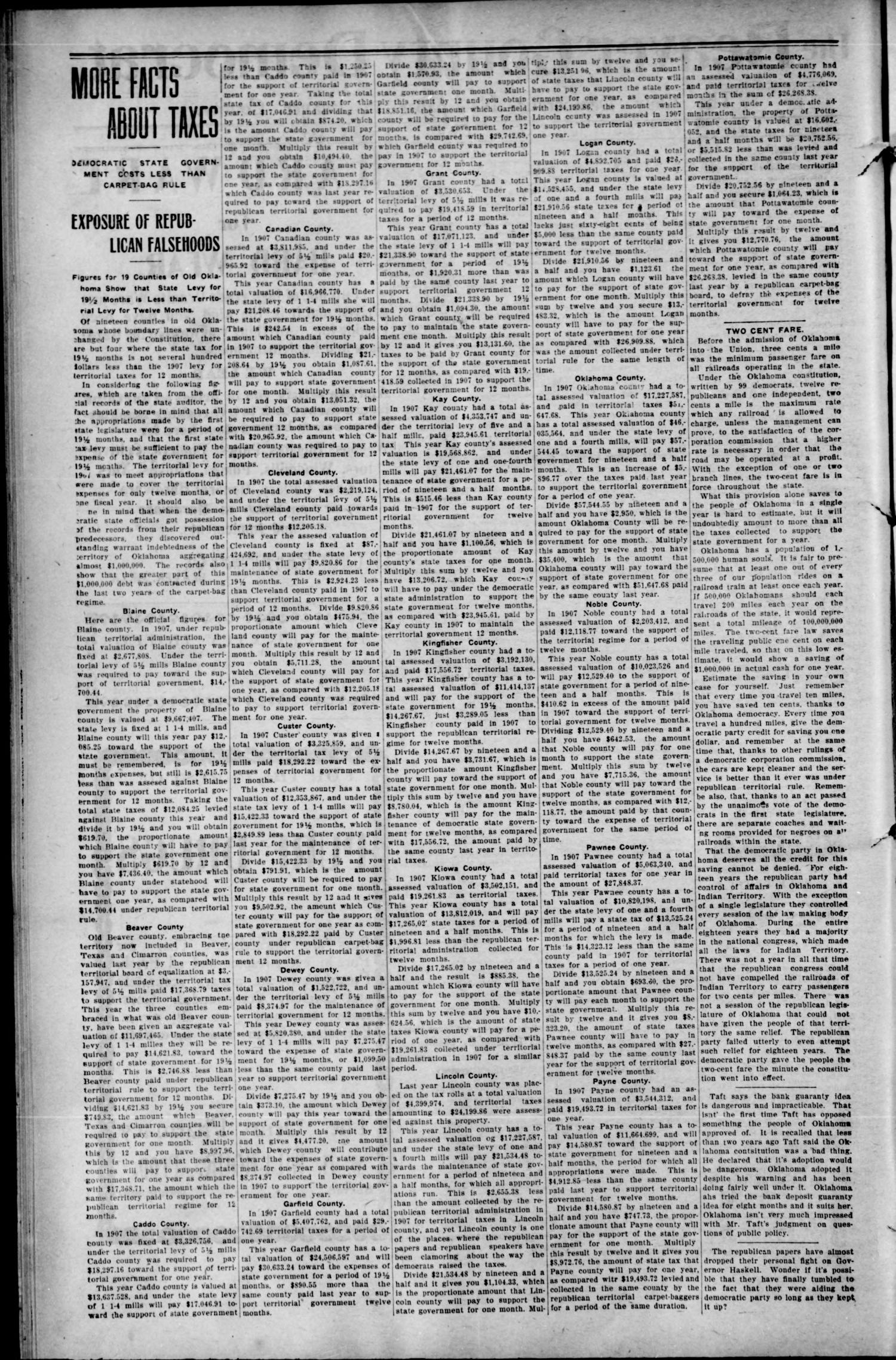 The Beaver County Democrat. (Beaver, Okla.), Vol. 3, No. 22, Ed. 1 Thursday, October 29, 1908                                                                                                      [Sequence #]: 2 of 4