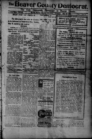Primary view of object titled 'The Beaver County Democrat. (Beaver, Okla.), Vol. 3, No. 51, Ed. 1 Thursday, May 20, 1909'.