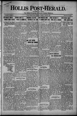 Primary view of Hollis Post-Herald. And Harmon County Tribune (Hollis, Okla.), Vol. 21, No. 19, Ed. 1 Thursday, March 20, 1924