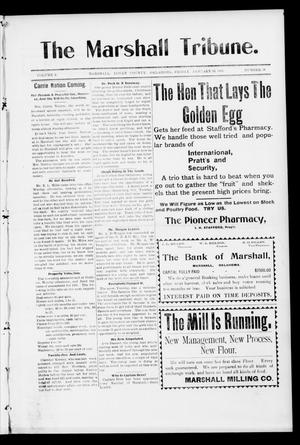 Primary view of object titled 'The Marshall Tribune. (Marshall, Okla.), Vol. 3, No. 37, Ed. 1 Friday, January 13, 1905'.
