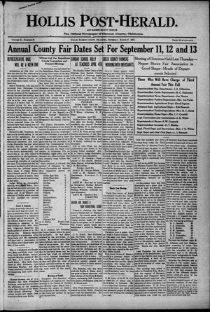 Primary view of Hollis Post-Herald. And Harmon County Tribune (Hollis, Okla.), Vol. 21, No. 20, Ed. 1 Thursday, March 27, 1924