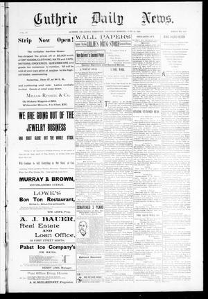 Primary view of object titled 'Guthrie Daily News. (Guthrie, Okla. Terr.), Vol. 4, No. 1212, Ed. 1 Thursday, June 22, 1893'.