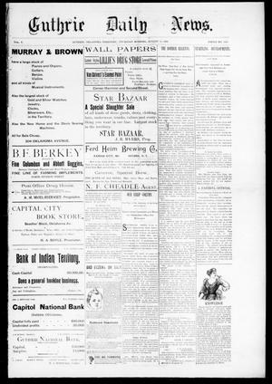 Primary view of Guthrie Daily News. (Guthrie, Okla. Terr.), Vol. 5, No. 1253, Ed. 1 Thursday, August 10, 1893