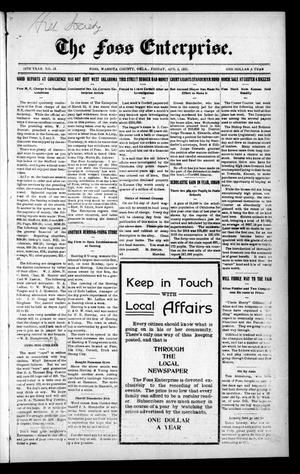 Primary view of The Foss Enterprise. (Foss, Okla.), Vol. 14, No. 24, Ed. 1 Friday, April 2, 1915