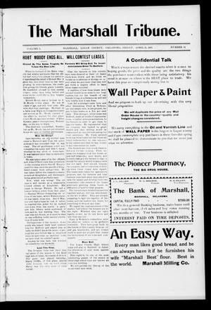 Primary view of object titled 'The Marshall Tribune. (Marshall, Okla.), Vol. 3, No. 52, Ed. 1 Friday, April 21, 1905'.