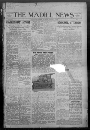Primary view of object titled 'The Madill News (Madill, Okla.), Vol. 13, No. 21, Ed. 1 Thursday, January 23, 1908'.