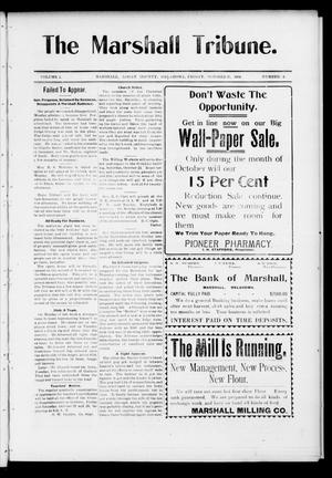 Primary view of object titled 'The Marshall Tribune. (Marshall, Okla.), Vol. 3, No. 25, Ed. 1 Friday, October 21, 1904'.