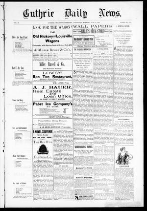 Primary view of object titled 'Guthrie Daily News. (Guthrie, Okla. Terr.), Vol. 4, No. 1205, Ed. 1 Wednesday, June 14, 1893'.