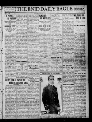Primary view of object titled 'The Enid Daily Eagle. (Enid, Okla.), Vol. 11, No. 86, Ed. 1 Sunday, July 7, 1912'.
