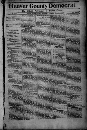 Primary view of object titled 'Beaver County Democrat. (Beaver, Okla.), Vol. 4, No. 30, Ed. 1 Thursday, December 23, 1909'.