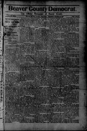 Primary view of object titled 'Beaver County Democrat. (Beaver, Okla.), Vol. 4, No. 31, Ed. 1 Thursday, December 30, 1909'.
