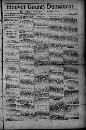 Primary view of object titled 'Beaver County Democrat. (Beaver, Okla.), Vol. 4, No. 26, Ed. 1 Thursday, November 25, 1909'.