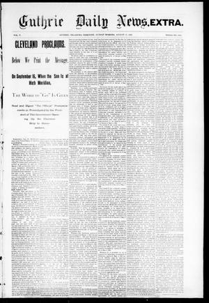Primary view of object titled 'Guthrie Daily News. (Guthrie, Okla. Terr.), Vol. 5, No. 1268, Ed. 2 Sunday, August 27, 1893'.