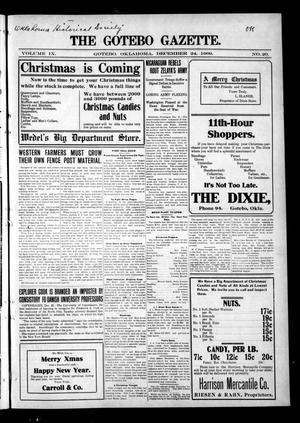 Primary view of object titled 'The Gotebo Gazette. (Gotebo, Okla.), Vol. 9, No. 20, Ed. 1 Friday, December 24, 1909'.