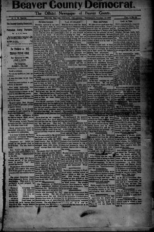Primary view of object titled 'Beaver County Democrat. (Beaver, Okla.), Vol. 4, No. 20, Ed. 1 Thursday, October 14, 1909'.