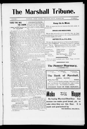 Primary view of object titled 'The Marshall Tribune. (Marshall, Okla.), Vol. 3, No. 48, Ed. 1 Friday, March 24, 1905'.