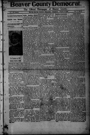 Primary view of object titled 'Beaver County Democrat. (Beaver, Okla.), Vol. 4, No. 12, Ed. 1 Thursday, August 19, 1909'.