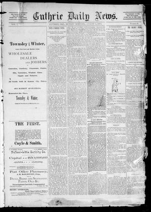 Primary view of object titled 'Guthrie Daily News. (Guthrie, Okla.), Vol. 1, No. 18, Ed. 1 Sunday, August 4, 1889'.