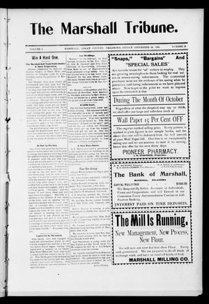 Primary view of object titled 'The Marshall Tribune. (Marshall, Okla.), Vol. 3, No. 23, Ed. 1 Friday, September 30, 1904'.