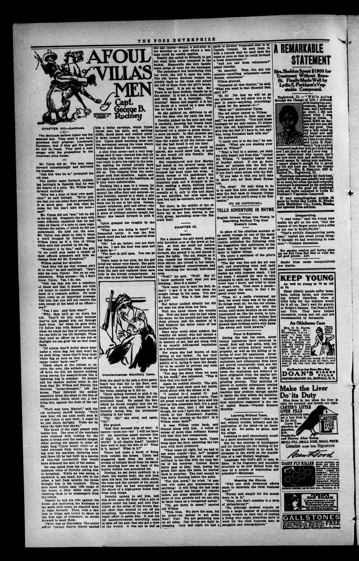 The Foss Enterprise. (Foss, Okla.), Vol. 15, No. 42, Ed. 1 Friday, July 28, 1916                                                                                                      [Sequence #]: 2 of 8