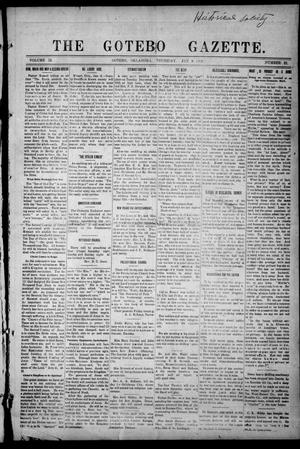 Primary view of object titled 'The Gotebo Gazette (Gotebo, Okla.), Vol. 12, No. 22, Ed. 1 Thursday, January 2, 1913'.