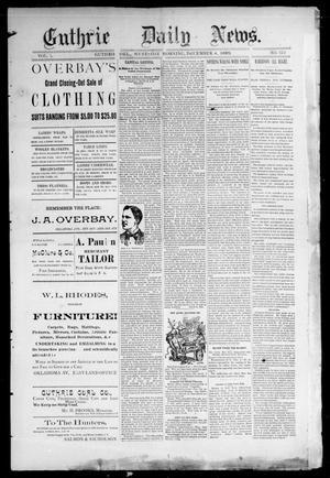Primary view of Guthrie Daily News. (Guthrie, Okla.), Vol. 1, No. 122, Ed. 1 Wednesday, December 4, 1889