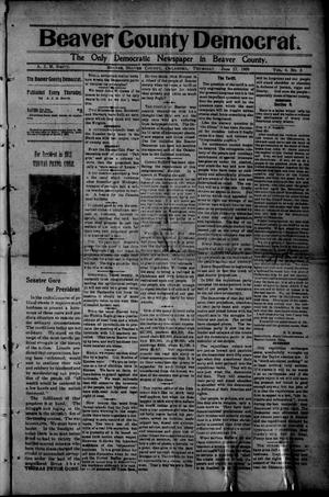 Primary view of object titled 'Beaver County Democrat. (Beaver, Okla.), Vol. 4, No. 3, Ed. 1 Thursday, June 17, 1909'.