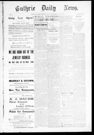 Primary view of object titled 'Guthrie Daily News. (Guthrie, Okla. Terr.), Vol. 4, No. 1211, Ed. 1 Wednesday, June 21, 1893'.