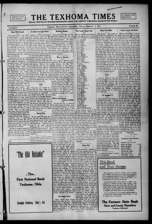 Primary view of object titled 'The Texhoma Times (Texhoma, Okla.), Vol. 12, No. 20, Ed. 1 Friday, February 5, 1915'.