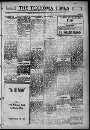 Primary view of object titled 'The Texhoma Times (Texhoma, Okla.), Vol. 13, No. 5, Ed. 1 Friday, October 29, 1915'.