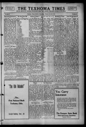 Primary view of object titled 'The Texhoma Times (Texhoma, Okla.), Vol. 12, No. 40, Ed. 1 Friday, June 25, 1915'.
