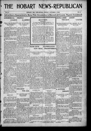Primary view of object titled 'The Hobart News--Republican (Hobart, Okla.), Vol. 5, No. 10, Ed. 1 Friday, October 6, 1905'.