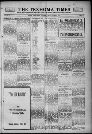 Primary view of object titled 'The Texhoma Times (Texhoma, Okla.), Vol. 13, No. 3, Ed. 1 Friday, October 15, 1915'.