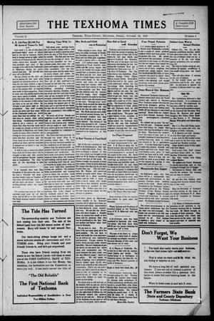 Primary view of object titled 'The Texhoma Times (Texhoma, Okla.), Vol. 11, No. 6, Ed. 1 Friday, October 24, 1913'.