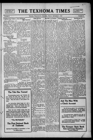 Primary view of object titled 'The Texhoma Times (Texhoma, Okla.), Vol. 10, No. 51, Ed. 1 Friday, September 5, 1913'.