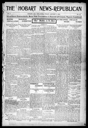 Primary view of object titled 'The Hobart News--Republican (Hobart, Okla.), Vol. 5, No. 22, Ed. 1 Friday, January 5, 1906'.