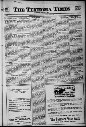 Primary view of object titled 'The Texhoma Times (Texhoma, Okla.), Vol. 18, No. 37, Ed. 1 Friday, June 10, 1921'.